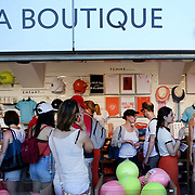 2017 French Open Tennis Tournament.  Shoppers in the French Open tennis merchandise La Boutique store at the 2017 French Open Tennis Tournament at Roland Garros on May 25th, 2017 in Paris, France.  (Photo by Tim Clayton/Corbis via Getty Images)