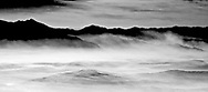 Morning over Jackson Hole,Wyoming photographed from 10,000ft - B&W Conversion