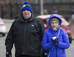 Rangers fans arrive for the Ladbrokes Scottish Premiership match at Ibrox Stadium, Glasgow.