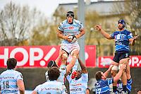 Wenceslas LAURET / Antoine BATTUT  - 11.04.2015 - Racing Metro / Montpellier  - 22eme journee de Top 14 <br />Photo : Dave Winter / Icon Sport