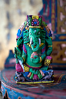 Ganesha spiritual altar. This traditional mythological elephant is known as the remover of obstacles and his divine power can be invoked during times of adversity.