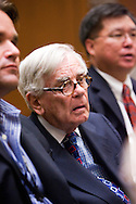 Writer Dominick Dunne..A mistrial was declared in the murder case against Phil Spector,  the jury deadlocked 10-2 in favor of guilt.. The nine-man, three-woman jury was on its 12th day of deliberations..Criminal Courthouse, Downtown LA