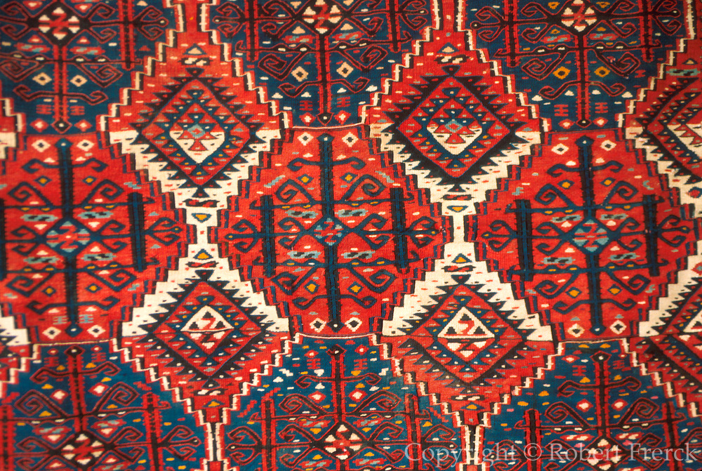 TURKEY, ISTANBUL hand made carpets from Anatolia in a craft market