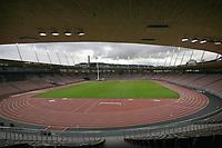 Uebersicht Stadion Letzigrund mit Flutlichtlanlage © Andy Mueller/EQ Images