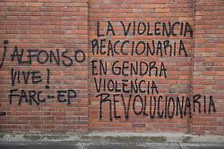 Graffitis und Street Art in Bogota / 240916<br /> <br /> ***        <br /> <br /> Street art and sprayed slogans in the Colombian capital Bogota, Colombia, September 24, 2016 ***