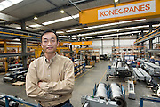 Nuclear Power Business Dept. and Heavy Duty Crane Dept. Eric CHEN poses for a photograph in KoneCranes Heavy Duty Cranes factory in Shanghai, China, on May 25, 2010. Photo by Lucas Schifres/Pictobank