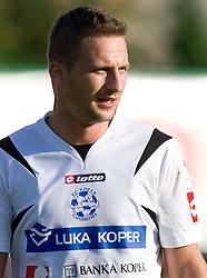 Mitja Brulc of Koper at the football match Interblock vs NK Luka Koper in 12th Round of Prva liga 2009 - 2010,  on October 03, 2009, in ZSD Ljubljana, Ljubljana, Slovenia. Luka Koper won 1:0.  (Photo by Vid Ponikvar / Sportida)
