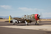 Mike Oliver, Erickson Aircraft Collection Director, in P-47D thunderbolt.