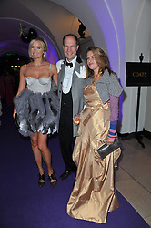 Left to right, HARRY & BODIL BLAIN and TRACEY EMIN at The Surrealist Ball in aid of the NSPCC in association with Harpers Bazaar magazine held at the Banqueting House, Whitehall, London on 17th March 2011.