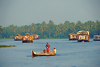 Inde, Etat du Kerala, Allepey, backwaters // India, Kerala state, Allepey, backwaters