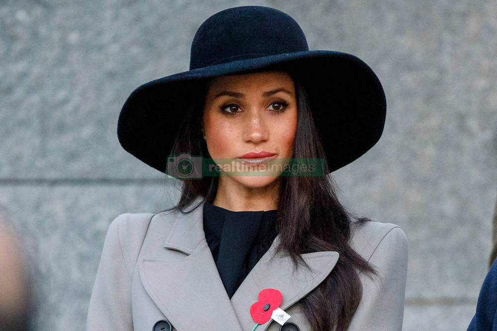 Meghan Markle during a Dawn Service at the Australian memorial, Wellington Arch, London, to commemorate Anzac Day.