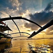 Pontoon boat in El Nido, Palawan, Philippines