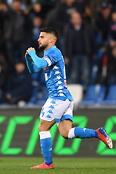 "March 10, 2019 - Reggio Emilia, Italia - Foto Massimo Paolone/LaPresse.10 marzo 2019 Reggio Emilia, Italia.sport.calcio.Sassuolo vs Napoli - Campionato di calcio Serie A TIM 2018/2019 - stadio ""Mapei - Città del Tricolore"".Nella foto: Lorenzo Insigne (SSC Napoli) esulta dopo aver realizzato il gol 1-1..Photo Massimo Paolone/LaPresse.March 10, 2019 Reggio Emilia, Italy.sport.soccer.Sassuolo vs Napoli - Italian Football Championship League A TIM 2018/2019 - ""Mapei Stadium""..In the pic: Lorenzo Insigne (SSC Napoli) celebrates after scoring goal (Credit Image: © Massimo Paolone/Lapresse via ZUMA Press)"