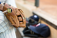 A close up view of the glove of Brian Dozier #2 of the Minnesota Twins before a game against the Chicago White Sox on June 19, 2013 at Target Field in Minneapolis, Minnesota.  The Twins defeated the White Sox 7 to 4.  Photo: Ben Krause
