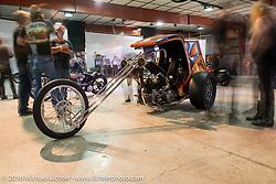Invited builder bike at Love Thy Chopper 10. Denver, CO, USA. July 16, 2016.  Photography ©2016 Michael Lichter.