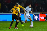 Dael Fry (20) of Middlesbrough on the attack during the The FA Cup match between Newport County and Middlesbrough at Rodney Parade, Newport, Wales on 5 February 2019.