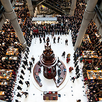 LONDON November 11  Two minutes silence are held at Lloyds  for Remembrance day service  The ceremony takes place in Lloyd's underwriting room and the Lutine Bell is rang to mark the two minutes silence  and the Last Post played by trumpeters...***Agreed Fee's Apply To All Image Use***.Marco Secchi /Xianpix. tel +44 (0) 771 7298571. e-mail ms@msecchi.com .www.marcosecchi.com