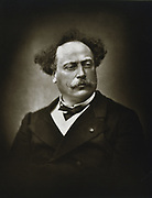 Alexandre Dumas the Younger (1824-1895) French writer. His novel 'La dame aux camelias' (1848) was the basic story for Verdi's opera 'La Traviata'. Photograph by Fontaine.