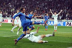 25.03.2011, SRC Stozice, Ljubljana, SLO, EURO 2012 Qualifikation, Slovenia vs Italy, im Bild Giampaolo Pazzini Italia occasione da gol. EXPA Pictures © 2011, PhotoCredit: EXPA/ InsideFoto/ Nicolo Zangirolami +++++ ATTENTION - FOR AUSTRIA/AUT, SLOVENIA/SLO, SERBIA/SRB an CROATIA/CRO CLIENT ONLY +++++