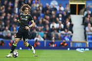 David Luiz of Chelsea in action. Premier league match, Everton v Chelsea at Goodison Park in Liverpool, Merseyside on Sunday 30th April 2017.<br /> pic by Chris Stading, Andrew Orchard sports photography.
