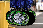 Finisher medals from the 2018 Hague Endurance Festival Triathlon