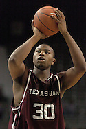 Texas A&M forward Joseph Jones puts up a foul shot during K-State's 58-54 win over the Aggies at Bramlage Coliseum in Manhattan, Kansas, January 18, 2006.