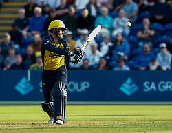 Owen Morgan of Glamorgan in action today <br /> <br /> Photographer Simon King/Replay Images<br /> <br /> Vitality Blast T20 - Round 1 - Glamorgan v Somerset - Thursday 18th July 2019 - Sophia Gardens - Cardiff<br /> <br /> World Copyright © Replay Images . All rights reserved. info@replayimages.co.uk - http://replayimages.co.uk