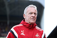 Alan Curtis, the interim manager of Swansea City looks on from his technical area.. Barclays Premier League match, Crystal Palace v Swansea city at Selhurst Park in London on Monday 28th December 2015.<br /> pic by John Patrick Fletcher, Andrew Orchard sports photography.
