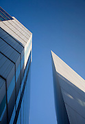 andy spain architectural photography more london two pointed buildings against blue sky
