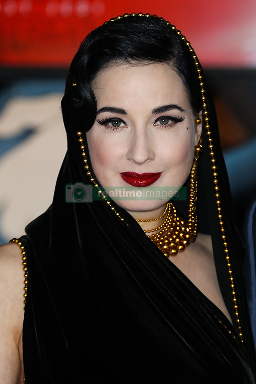 World Premiere Of Disney Pictures And Lucasfilm's 'Star Wars: The Last Jedi' held at The Shrine Auditorium on December 9, 2017 in Los Angeles, California, United States. 09 Dec 2017 Pictured: Dita Von Teese. Photo credit: IPA/MEGA TheMegaAgency.com +1 888 505 6342