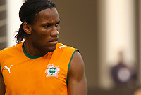 Photo: Steve Bond/Richard Lane Photography.<br /> Ivory Coast v Benin. Africa Cup of Nations. 25/01/2008. Didier Drogba of Ivory Coast & Chelsea