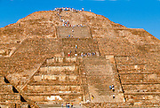 MEXICO, TEOTIHUACAN the Pyramid of the Moon