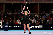 GAME SET MATCH Helen Skelton and partner rejoice as WINNERS during a celebrity doubles match at the Men's Singles Final Champions Tennis match at the Royal Albert Hall, London, United Kingdom on 9 December 2018. Picture by Ian Stephen.