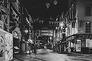 London Gerrard Street Chinatown district during the Pandemic of Coronavirus April 23. 2020.<br /> Copyright Ki Price