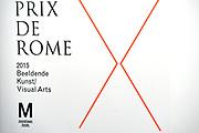 Koningin Maxima is aanwezig bij de uitreiking van de Prix de Rome 2015, de oudste prijs in Nederland voor beeldend kunstenaars onder de 40 jaar. <br /> <br /> Queen Maxima attends the presentation of the Prix de Rome in 2015, the oldest prize in the Netherlands for artists under 40 years.