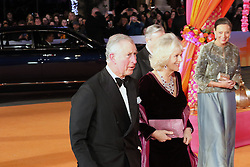 Charles Prince of Wales, Camilla Duchess of Cornwall, The Second Best Exotic Marigold Hotel - Royal Performance and World Film Premiere, Leicester Square, London UK, 17 February 2015, Photo by Richard Goldschmidt