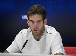 September 7, 2017 - Flushing Meadows, New York, U.S - Juan Martin del Potro during a press conference after winning his game on Day Ten of the 2017 US Open against Roger Federer at the USTA Billie Jean King National Tennis Center on Wednesday September 5, 2017 in the Flushing neighborhood of the Queens borough of New York City. Del Potro defeats Federer, 7-5, 3-6, 7-6(10-8), 6-4. JAVIER ROJAS/P (Credit Image: © Prensa Internacional via ZUMA Wire)