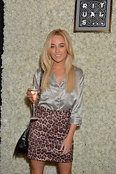 NICOLA HUGHES at the launch of the new Rituals store at 29 James Street, Covent Garden, London on 1st September 2016.