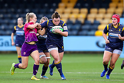 Flo Long of Worcester Warriors Women charges towards the try line - Mandatory by-line: Nick Browning/JMP - 14/11/2020 - RUGBY - Sixways Stadium - Worcester, England - Worcester Warriors Women v Loughborough Lightning - Allianz Premier 15s