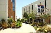 Walkway Between Mihaylo Hall and Langsdorf Hall on Campus of California State University Fullerton