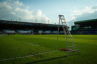 Rugby Union - 2020 / 2021 European Rugby Challenge Cup - Semi-final - Leicester vs Ulster - Welford Road<br /> <br /> A general view of Mattioli Woods Welford Road, home of Leicester Tigers with a line out ladder in the foreground.<br /> <br /> COLORSPORT/ASHLEY WESTERN