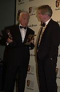 John thaw and Sir Tom Courtenay. BAFTA Television Awards, sponsored by the Radio Times, Grosvenor House. London. 13 May 2001. © Copyright Photograph by Dafydd Jones 66 Stockwell Park Rd. London SW9 0DA Tel 020 7733 0108 www.dafjones.com