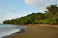 Beach in front of the San Pedrillo ranger station in Corcovado National Park, Costa Rica's largest national park.