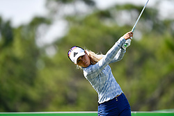 January 19, 2019 - Lake Buena Vista, FL, U.S. - LAKE BUENA VISTA, FL - JANUARY 19: Danielle Kang of the United States tees off on hole 3 during the third round of the Diamond Resorts Tournament of Champions on January 19, 2019, at Tranquilo Golf Course at Fours Seasons Orlando in Lake Buena Vista, FL. (Photo by Roy K. Miller/Icon Sportswire) (Credit Image: © Roy K. Miller/Icon SMI via ZUMA Press)