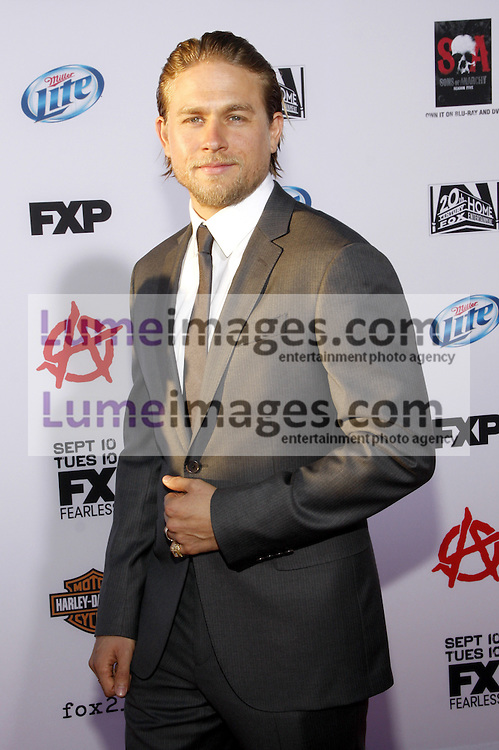 """Charlie Hunnam at the FX's Season 6 Premiere Screening of """"Sons Of Anarchy"""" held at the Dolby Theatre in Hollywood, USA on September 7, 2013."""