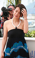 Actress, Makiko Watanabe at the photo call for the film Still The Water (Futatsume No Mado), at the 67th Cannes Film Festival, Tuesday 20th May 2014, Cannes, France.