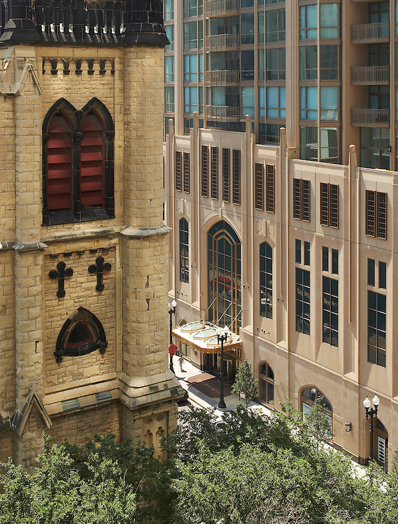 The Pinnacle with 4th Presbetarian Church - Lucien Lagrange Architects - Chicago