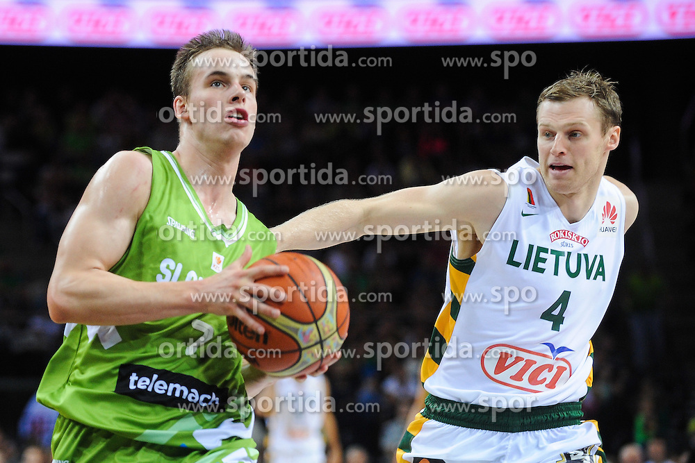 Klemen Prepelic of Slovenia during friendly match between National Teams of Slovenia and Lithuania before World Championship Spain 2014 on August 18, 2014 in Kaunas, Lithuania. Photo by Robertas Dackus / Sportida.com