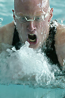 Svømming - NM i langbane Piranlegget Trondheim 8. juli 2002. Kim Henriksen, Bergenssvømmerne 200 m medley.<br /> <br /> Foto: Andreas Fadum, Digitalsport