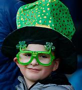 Irish Fan during the Guinness Six Nations between England and Ireland at Twickenham  Stadium, Sunday, Feb. 23, 2020, in London, United Kingdom. (ESPA-Images/Image of Sport)